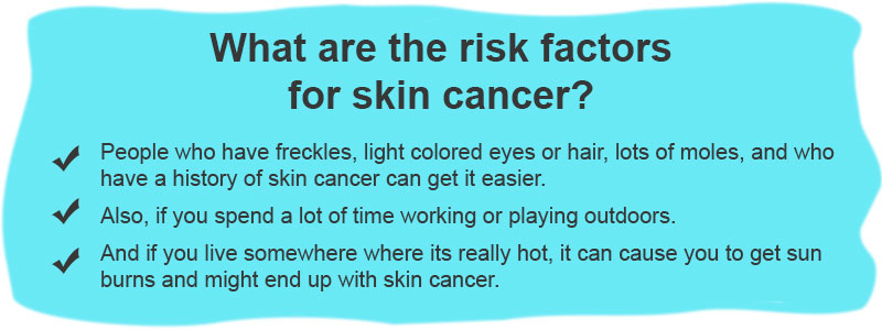 What are the risk factors for skin cancer