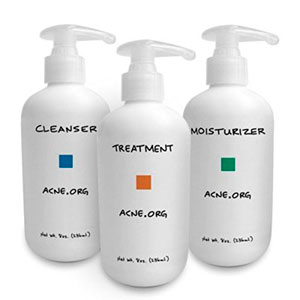 Cleanser. Treatment. Moisturizer