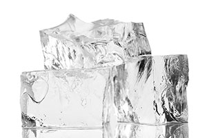 Use ice made from pure water