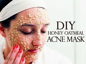 DIY Honey Oatmeal Acne Mask