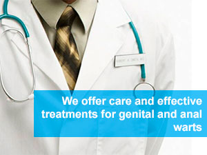 We offer care and effective treatments for genital and anal warts