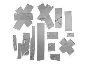 Duct tape forms