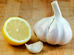 Lemon and garlic
