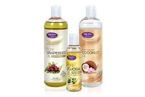 Grapeseed, Jojoba and Coconut oils