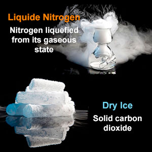 Liquid Nitrogen Vs. Dry Ice