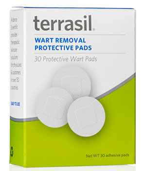 Terrasil wart removal protective pads