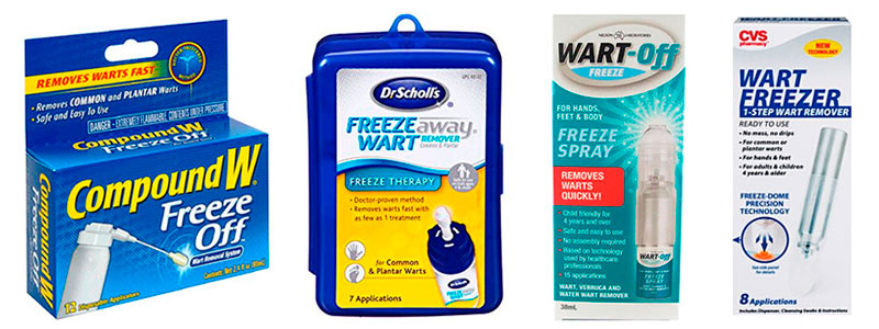 Warts freezing products