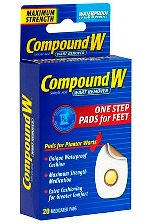 One step Pads for feet wart remover by Compound W