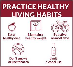Practice healthy living habits