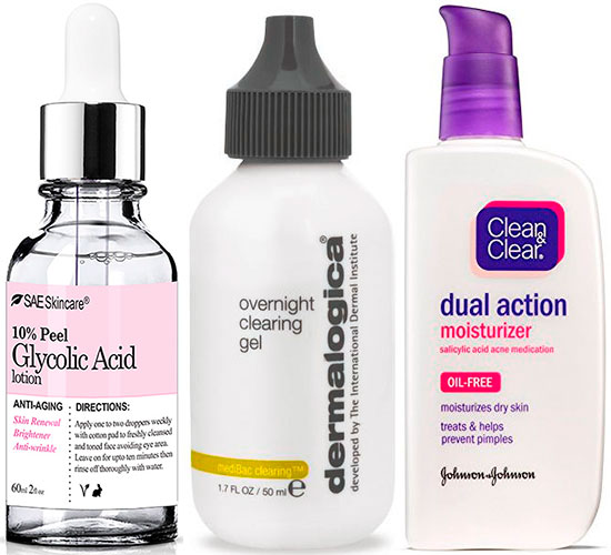 Glycolic and Salicylic Acid Products