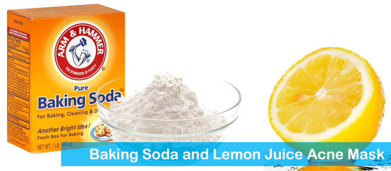 Baking soda and lemon juice acne mask