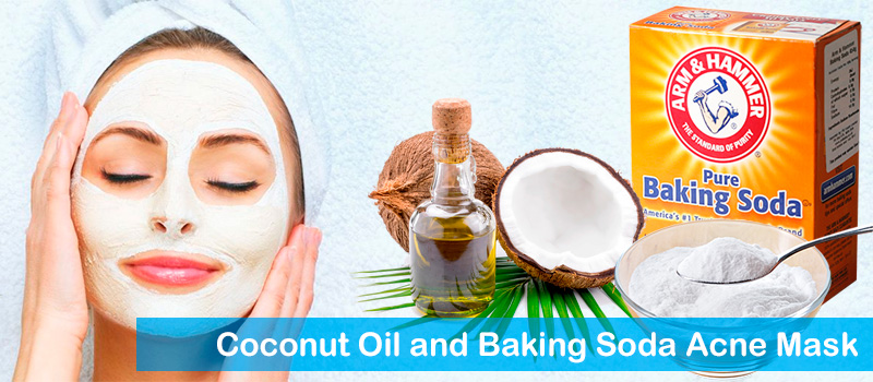 Coconut oil and baking soda acne mask