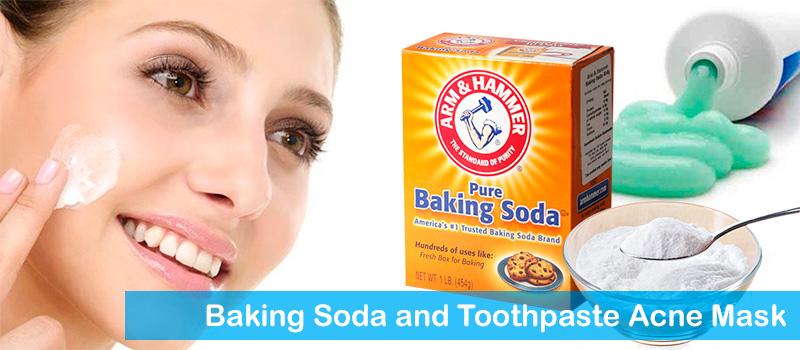 Baking soda and toothpaste acne mask