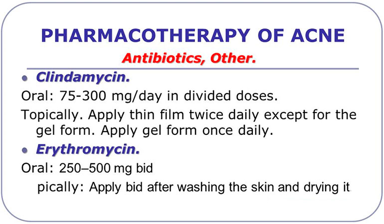 Pharmacotherapy of acne