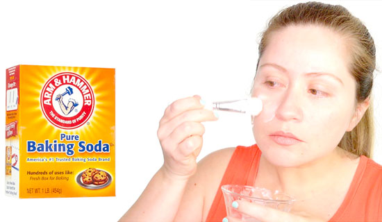 Baking soda mask using