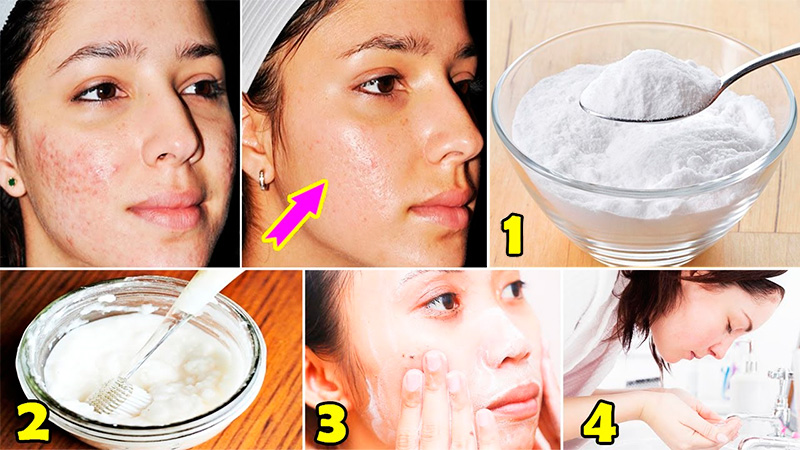 Using baking soda facial mask