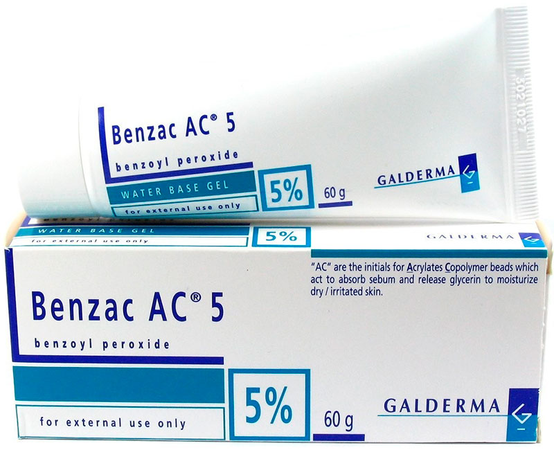 Benzac AC 5 water base gel