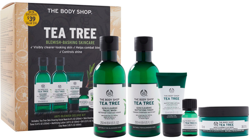 Tea tree blemish-bashing skincare by The Body Shop
