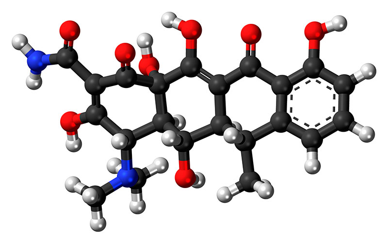 Doxycycline (C24H33ClN2O10) 3D structure