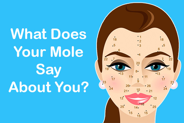 Moles on your face