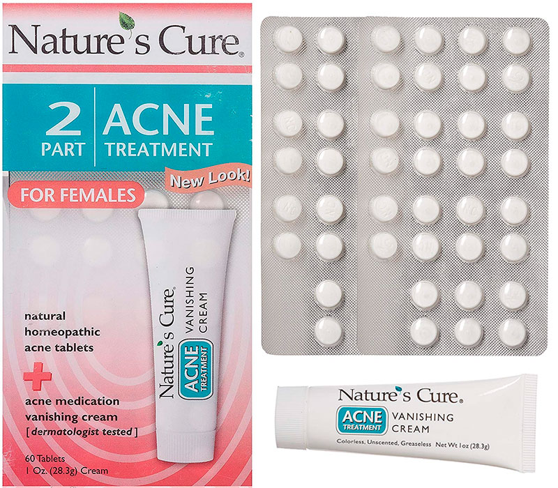 Nature's Cure Acne Treatment Pills for Females