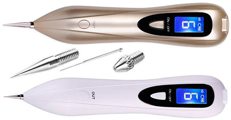 Laser mole removal tools