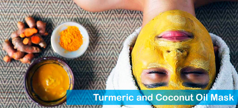 Turmeric and Coconut Oil Mask