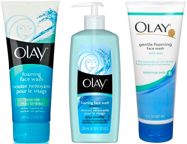 Foaming face wash by Olay