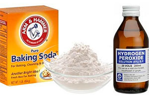 Naking soda and Hydrogen Peroxide