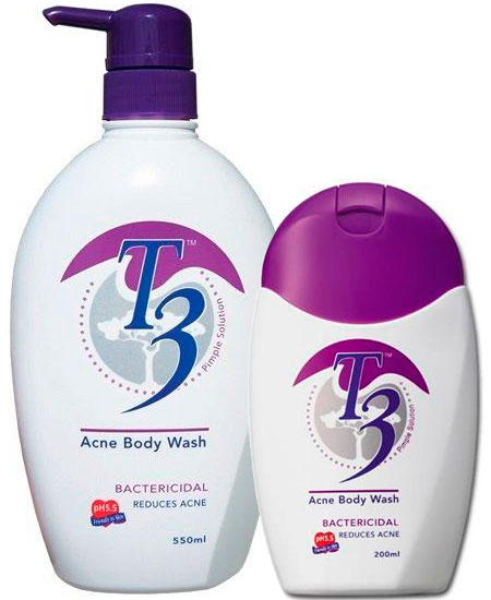 Acne body wash by T3
