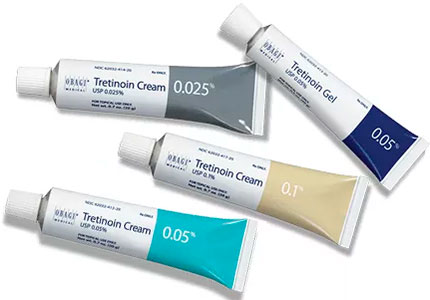 Tretinoin creams and gel